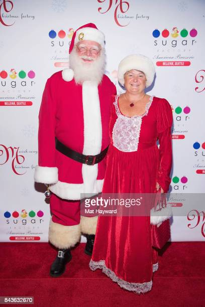 Santa and Mrs Claus attend The Grand Opening Of Sugar Factory American Brasserieon September 6 2017 in Bellevue Washington