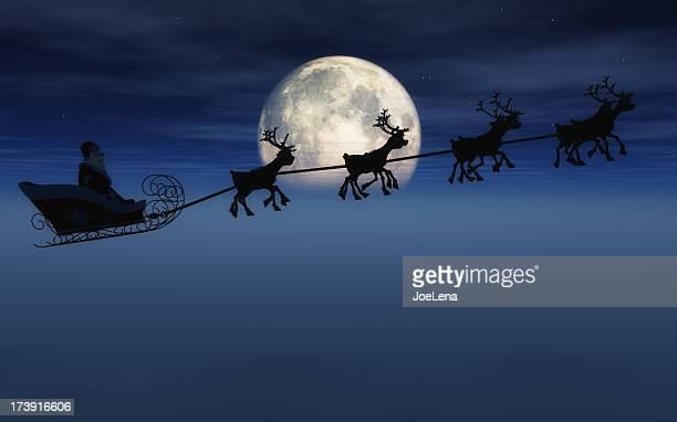 Santa et traîneau