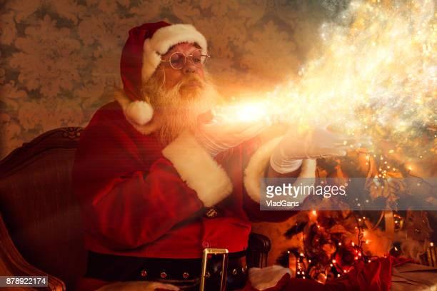 Santa Blowing Magic Christmas Stars