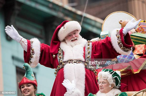 Santa Claus and Mrs Claus attend the 90th Annual Macy's Thanksgiving Day Parade on November 24 2016 in New York City