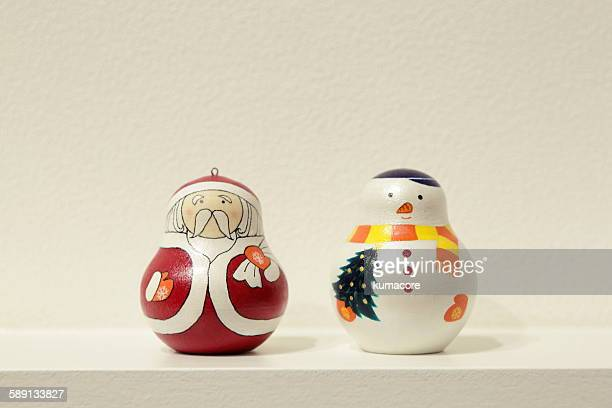 Santa Claus and snowman matryoshka.