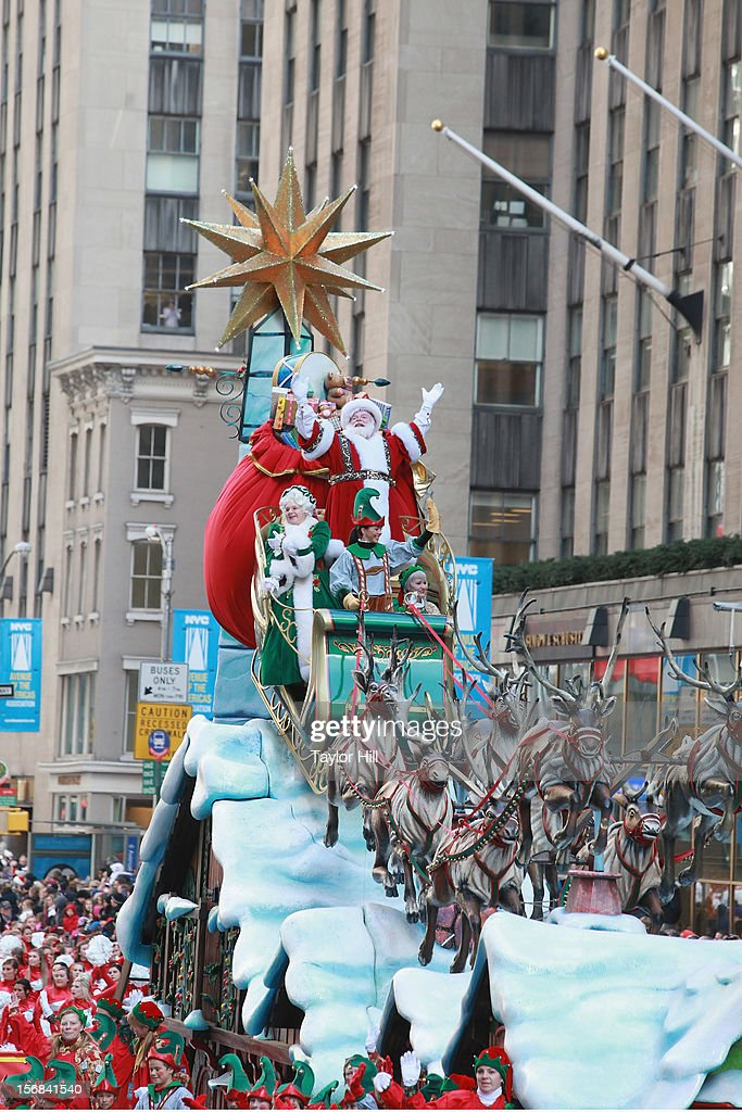 Santa Claus attends the 86th Annual Macy's Thanksgiving Day Parade on November 22, 2012 in New York City.