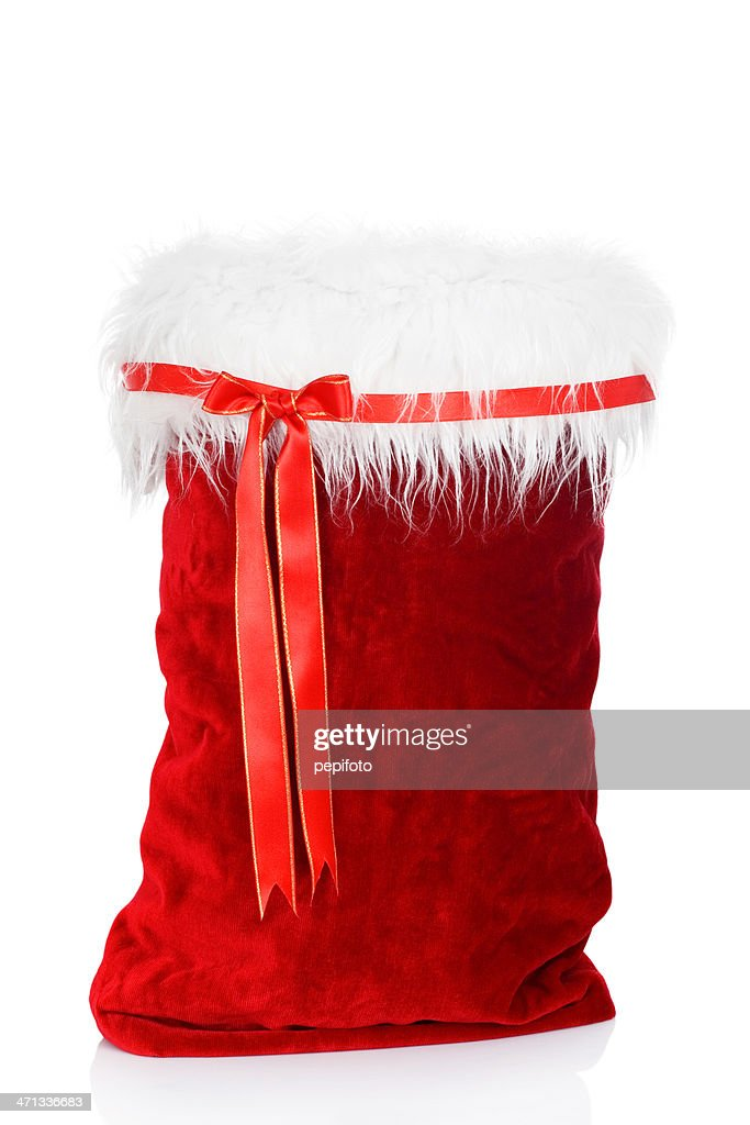 Santa claus bag stock photo getty images