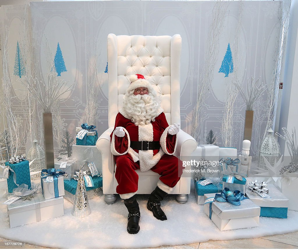 Santa Claus celebrates during The Paley Center For Media & Warner Bros. Television Unveil Lavish Holiday Window Display at The Paley Center for Media on December 5, 2012 in Beverly Hills, California.