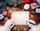 Christmas Wish List On Table