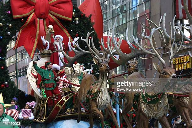 Santa Claus during The 78th Annual Macy's Thanksgiving Day Parade at Manhattan in New York City New York United States