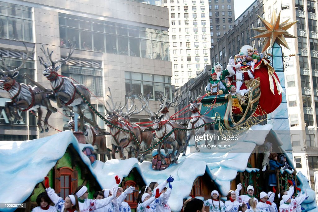 Santa Claus float during the 86th Annual Macy's Thanksgiving Day Parade on November 22, 2012 in New York City.