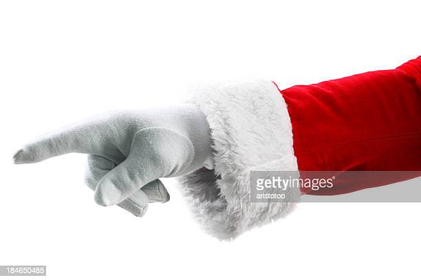 Santa Claus Hand Pointing with Finger