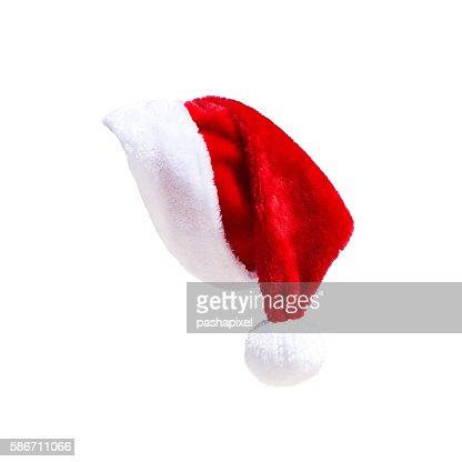 Sombrero de Santa Claus sobre blanco : Foto de stock