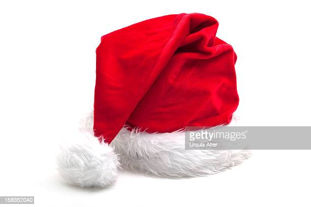 Santa Claus hat ona  a white background