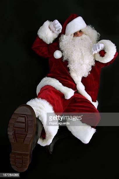 Santa Claus mantendo caber!