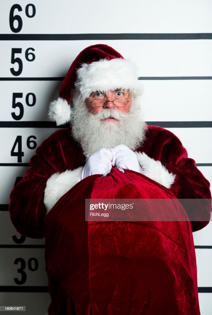 Santa Claus Mugshot : Stock Photo