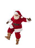 Santa Claus Portrait. Walking