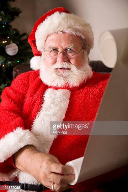 Santa Claus Reading a Christmas List