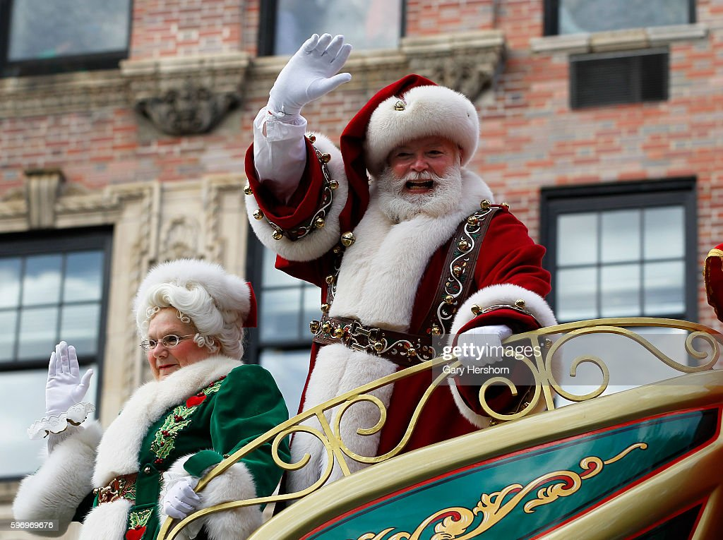 Santa Claus rides down Central Park West in the Macy's Thanksgiving Day Parade in New York November 26 2015