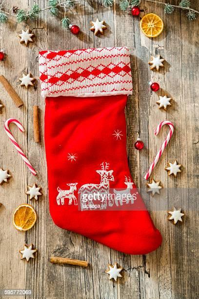 Santa Claus shoe with christmas deko