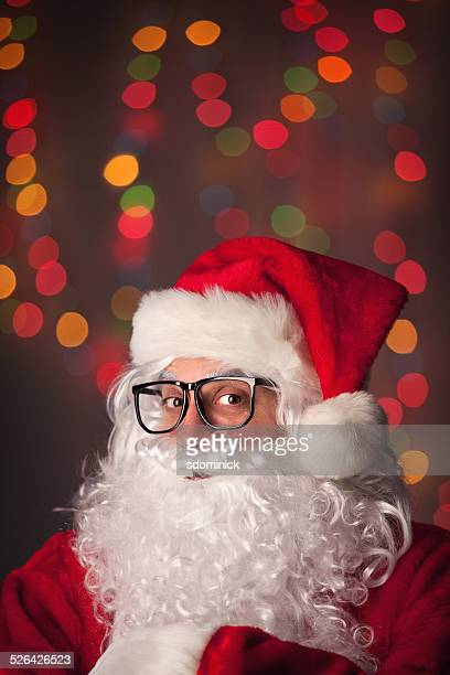 Santa Claus Wearing Hipster Glasses