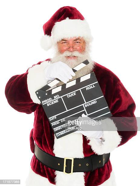Santa Claus with a Movie Slate