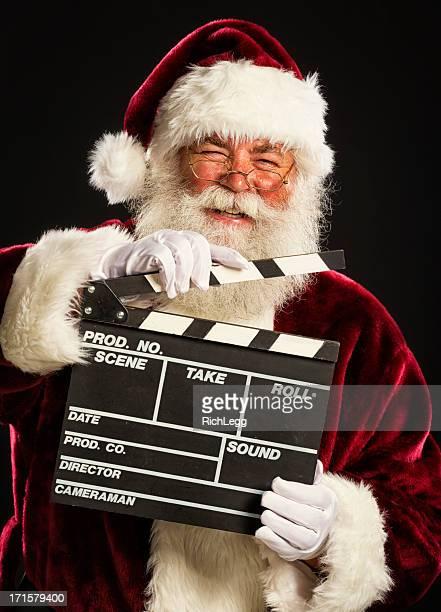 Père Noël avec un film Ardoise