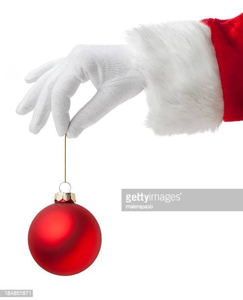 Santa Claus with Christmas ball.