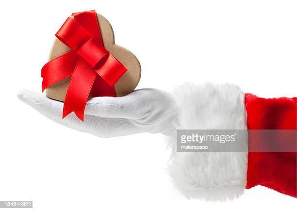 Santa Claus mit Weihnachten Geschenk