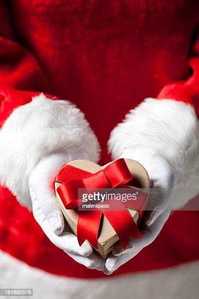 Babbo Natale con regalo di Natale