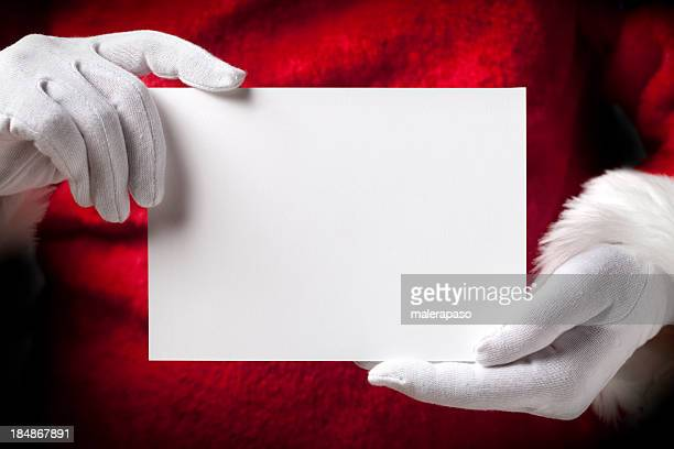 Santa Claus with greeting cards