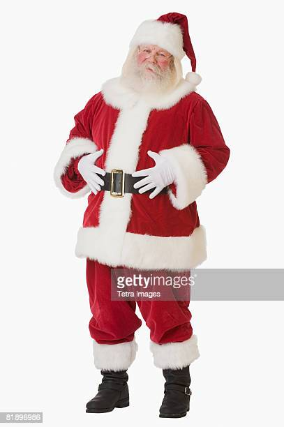 Santa Claus with hands on belly