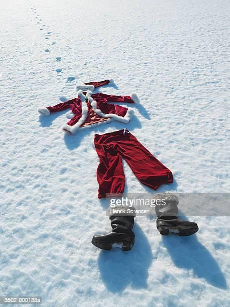 Santa Costume in Snow