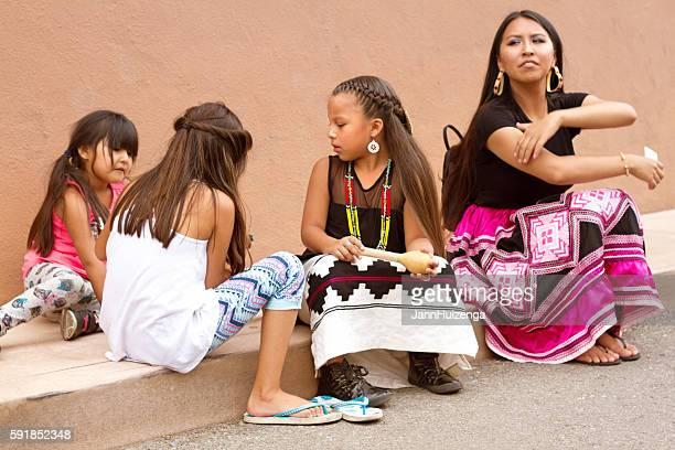 Santa Fe 2016 Indian Market: Native American Family