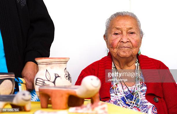 2016 Santa Fe Indian Market: Kewa Pueblo Potter with Work
