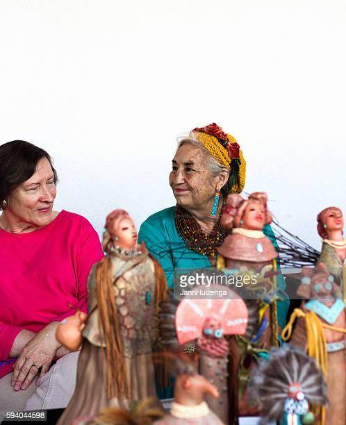2016 Santa Fe Indian Market: Navajo Potter with Creations