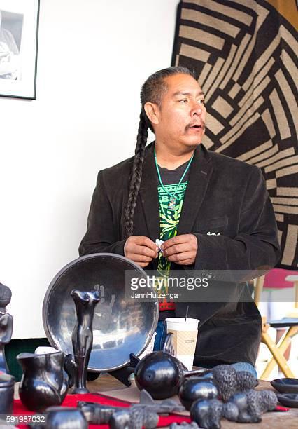 2016 Santa Fe Indian Market: Pueblo Potter with Blackware Pottery