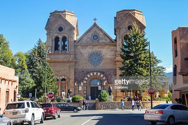 Santa Fe, Nuevo México-Fachada de la catedral de san francisco de asís