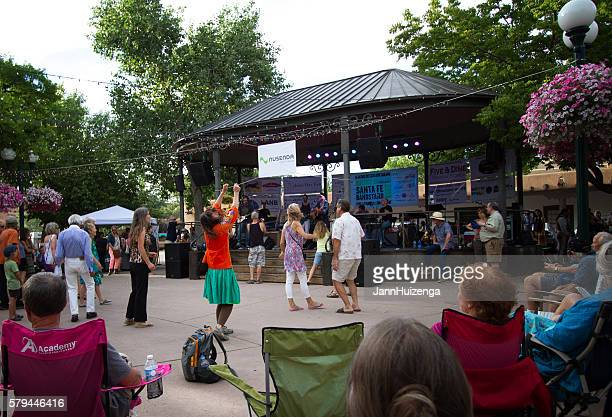 Santa Fe, NM: Music/Dancing on Historic Santa Fe Plaza