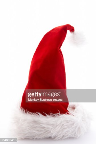 Santa Hat Against White Background : Foto de stock