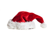 Santa Hat isolated on white.