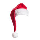 Santa Hat on white background.