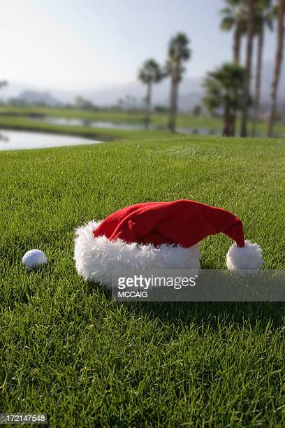 Santa Hut mit Golf Ball