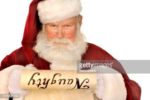 santa looking at naughty list