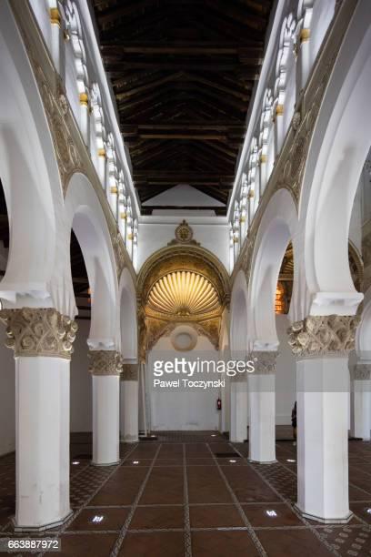 Santa María la Blanca - Mudejar-style synagogue converted to a church, Toledo, Spain
