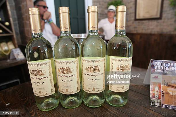Santa Margherita Pinot Grigio on display at Goya Foods Grand Tasting Village Featuring MasterCard Grand Tasting Tents KitchenAid® Culinary...