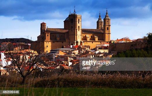 Santa Maria la Mayor church in  Alcaniz : Stock Photo