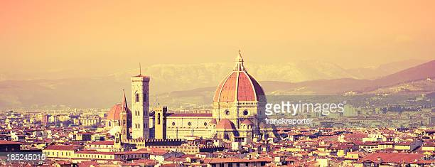 Santa maria novella dome in Florence at dusk