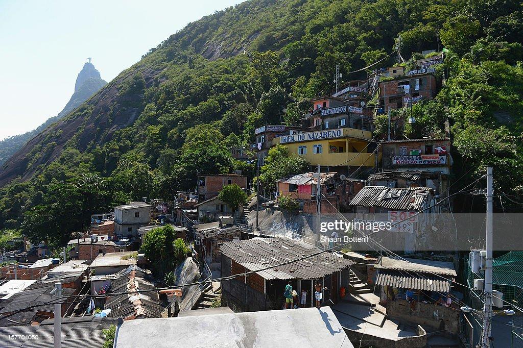 Santa Marta Favela on December 5, 2012 in Rio de Janeiro, Brazil.