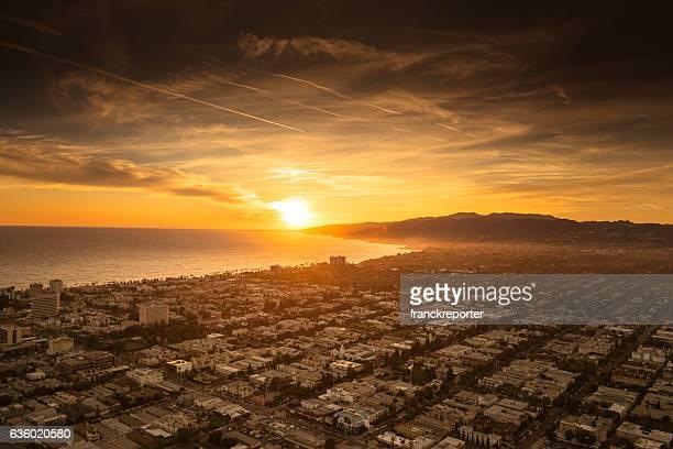 Santa Monica entfernt vom Hubschrauber aus
