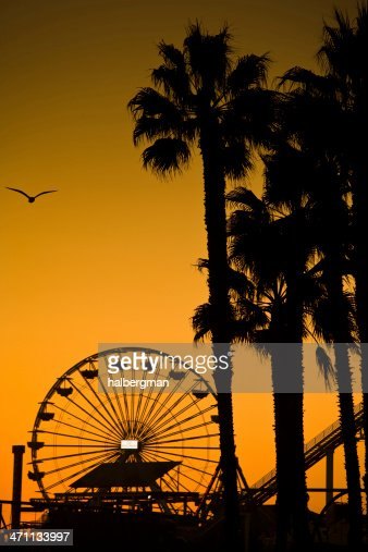 Santa Monica Ferris Wheel and Trees