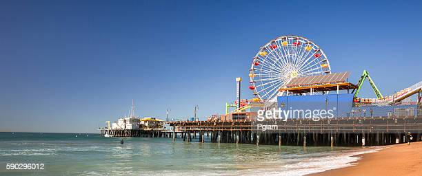Santa Monica Pier panoramic California