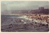 Santa Monica Postcard - Grunge