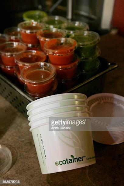 Santa Monica Santa Monica Ecotainers are used for hot food And plastic made out of corn that is used for cold items Santa Monica's polystyrene ban...
